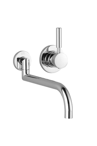 "Meta.02 Wall Mount Kitchen Faucet 9"" Projection"