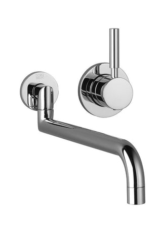 "Meta.02 Wall Mount Kitchen Faucet 12"" Projection"