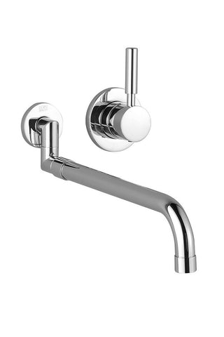 "Meta.02 Wall Mount Kitchen Faucet With Extendable 19"" Projection"