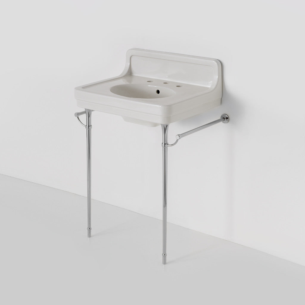 - Alden Metal Round Two Leg Single Washstand For Sink With