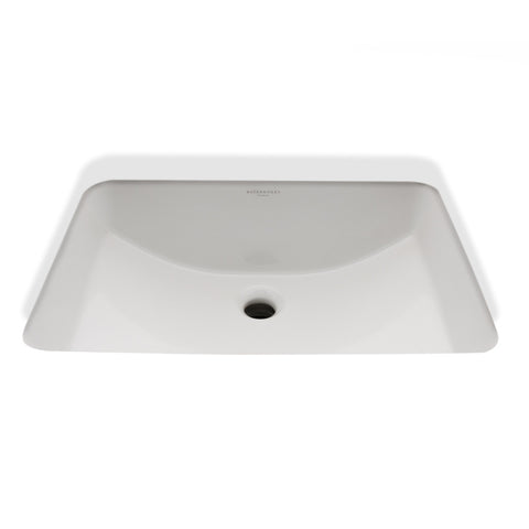 "Clara Undermount Rectangular Vitreous China Lavatory Sink Double Glazed 20 1/16"" x 14 1/8"" x 8"""