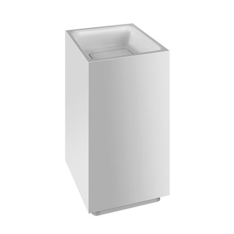 RETTANGOLO TOTAL LOOK FREESTANDING WASHBASIN IN CRISTALPLANT® WITHOUT OVERFLOW WASTE
