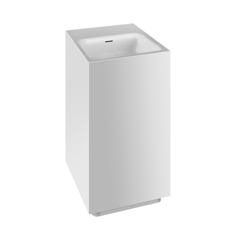 RETTANGOLO TOTAL LOOK FREESTANDING WASHBASIN IN CRISTALPLANT® WITH OVERFLOW WASTE