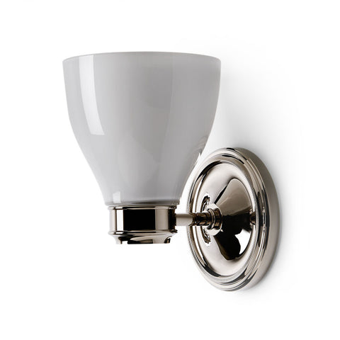 Cole Wall Mounted Single Arm Sconce with Glass Shade