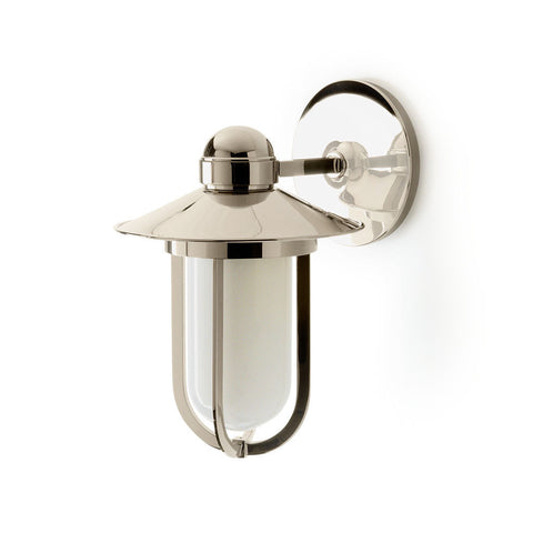 Hamilton Wall Mounted Single Arm Sconce with Glass Shade