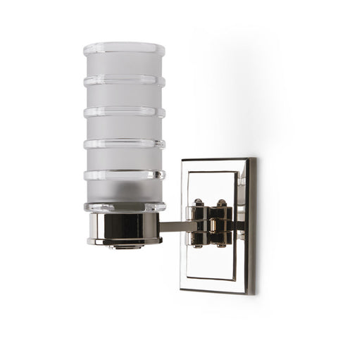 Electra Wall Mounted Single Arm Sconce with Glass Shade