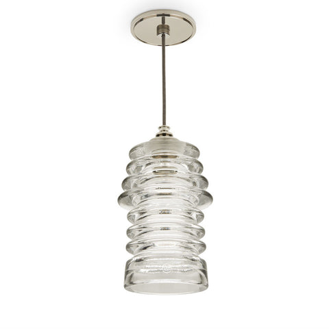 Watt Ceiling Mounted Pendant with Ribbed Glass Shade