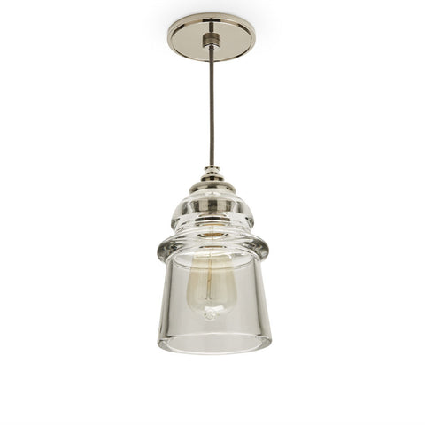 Watt Ceiling Mounted Pendant with Plain Glass Shade
