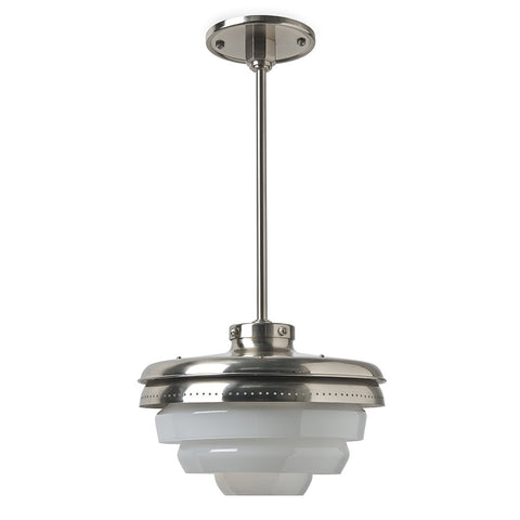 R.W. Atlas Ceiling Mounted Pendant with Glass Shades