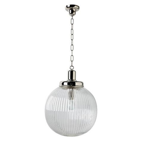 Aurora Ceiling Mounted Large Pendant with Glass Shade