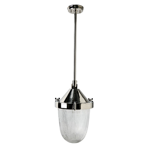 Fresnel Ceiling Mounted Pendant with Glass Shade