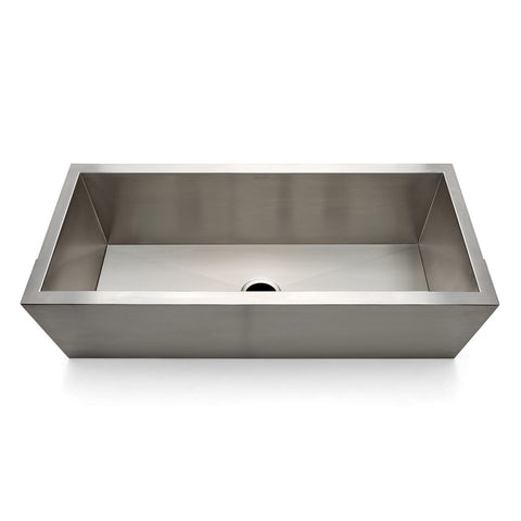 "Kerr 42"" x 21"" x 15"" Stainless Steel Ranchhouse Apron Kitchen Sink with Center Drain"