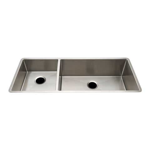 "Kerr 40"" x 18"" x 10"" Double Stainless Steel Kitchen Sink with Rear Drains"
