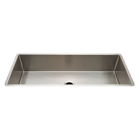 "Kerr 45 1/4"" x 18 3/4"" x 10"" Stainless Steel Kitchen Sink with Center Drain"
