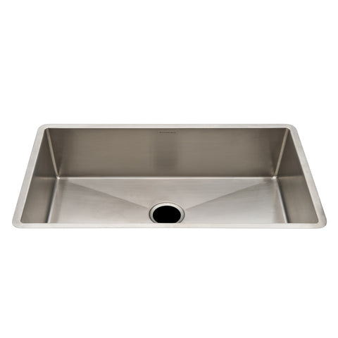 "Kerr 39 1/4"" x 18 3/4"" x 10"" Stainless Steel Kitchen Sink with Center Drain"