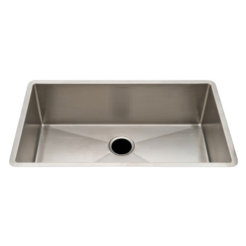 "Kerr 31 3/4"" x 19 3/4"" x 9 1/2"" Stainless Steel Kitchen Sink with Rear Drain"