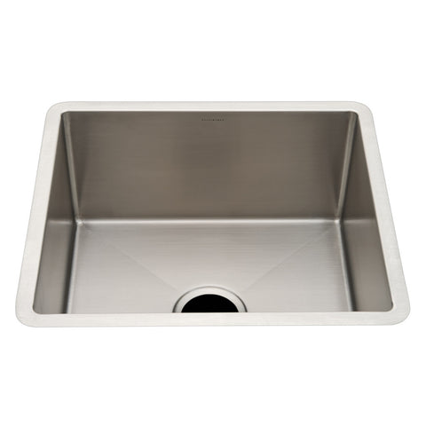 "Kerr 19 3/4"" x 17 3/4"" x 9 1/2"" Stainless Steel Kitchen Sink with Center Drain"