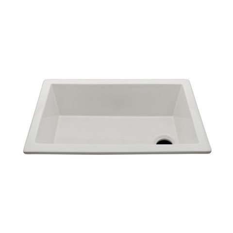 "Clayburn 22 3/4"" x 14 3/4"" x 8 7/8"" Fireclay Bar Sink with End Drain"
