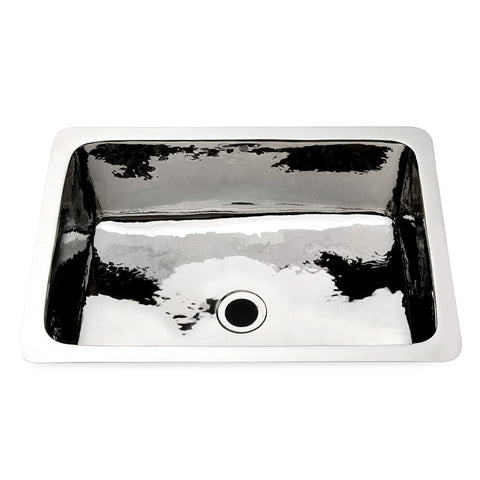"Normandy Drop In or Undermount Rectangular Hammered Copper Bar Sink 21 5/8"" x 15 11/16"" x 7 5/16"""