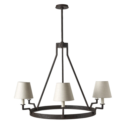 Fabienne Ceiling Mounted Iron Chandelier