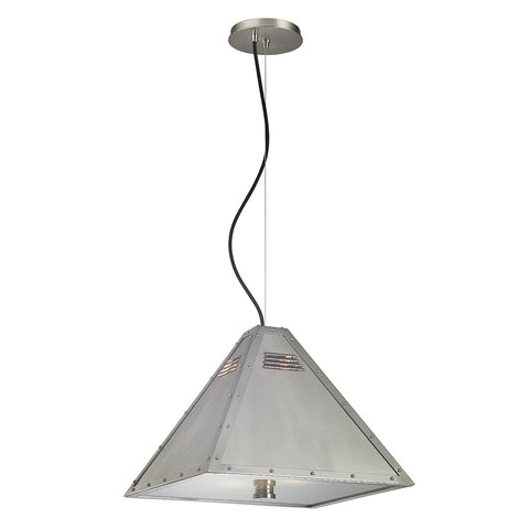 Mason Ceiling Mounted Pendant with Metal Shade