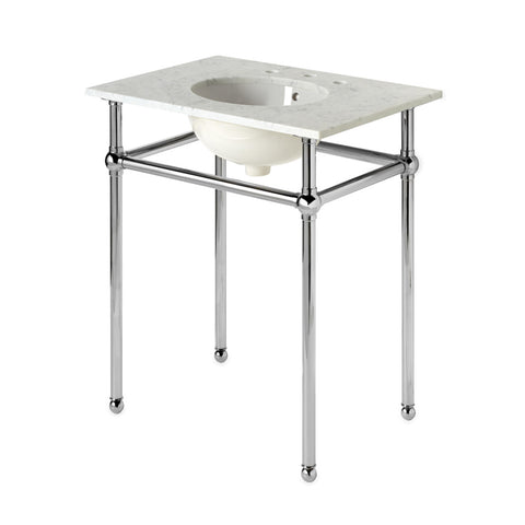 "Universal Four Leg Single Washstand Packaged with Sink and Slab Top 30"" x 21"" x 32 3/4"""