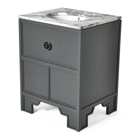 "Worth Single Vanity Packaged with Sink and Slab Top 26"" x 22 3/8"" x 33 7/8"""