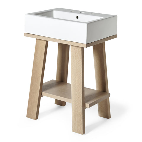 "Arden Single Washstand Packaged with Three Hole Sink 23 3/4"" x 18 1/2"" x 35"""