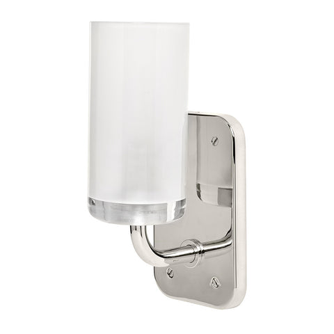 Ludlow Wall Mounted Single Arm Sconce with Glass Shade