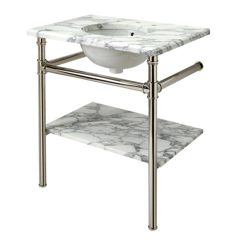 "Henry Metal Round Single Two Leg Washstand 29"" x 20"" x 31 3/4"""