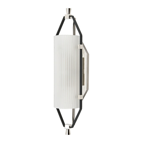 Addair Wall Mounted Single Sconce with Glass Shade