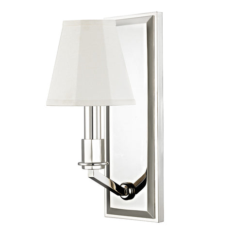 Erna Wall Mounted Single Arm Sconce with Fabric Shade