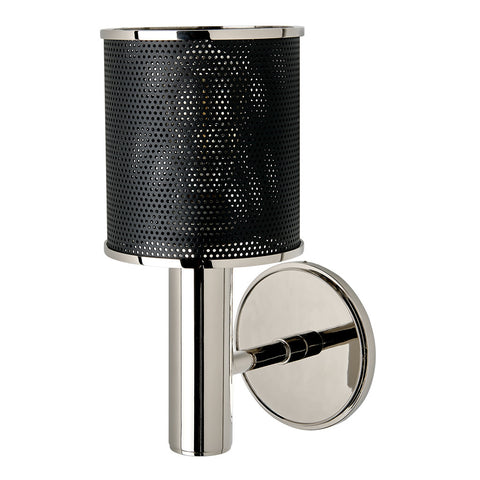 Montecito Wall Mounted Single Arm Sconce with Perforated Shade