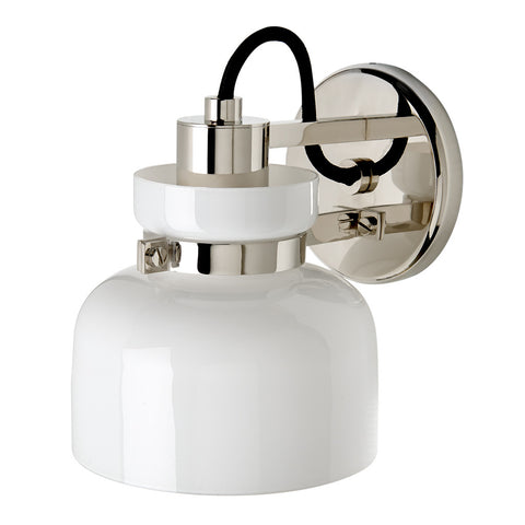 Helio Wall Mounted Single Arm Sconce with Glass Shade