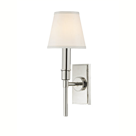 Dewey Wall Mounted Single Arm Sconce with Fabric Shade