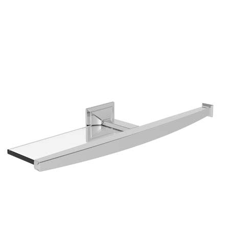 CAYDEN Open Toilet Tissue Holder with Shelf