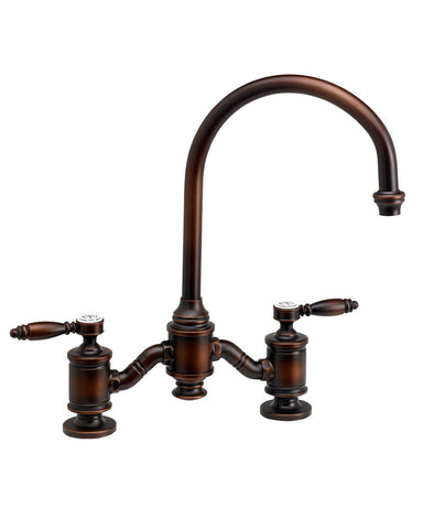 HAMPTON BRIDGE FAUCET - C SPOUT - LEVER HANDLES TRADITIONAL