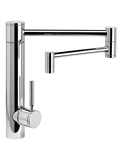 "HUNLEY KITCHEN FAUCET - 18"" ARTICULATED SPOUT - LEVER HANDLE CONTEMPORARY"