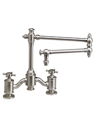 "TOWSON BRIDGE FAUCET - 18"" ARTICULATED SPOUT - CROSS HANDLES TRADITIONAL"