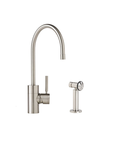 PARCHE KITCHEN FAUCET - C SPOUT - LEVER HANDLE w/ SIDE SPRAY CONTEMPORARY