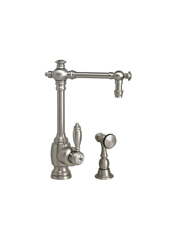 TOWSON PREP FAUCET - STRAIGHT SPOUT - LEVER HANDLE - w/ SIDE SPRAY TRADITIONAL