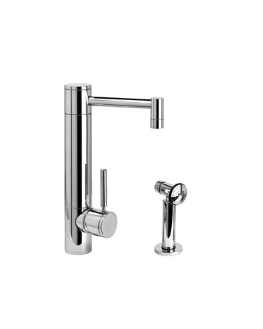 HUNLEY PREP FAUCET - STRAIGHT SPOUT - LEVER HANDLE  - w/ SIDE SPRAY CONTEMPORARY