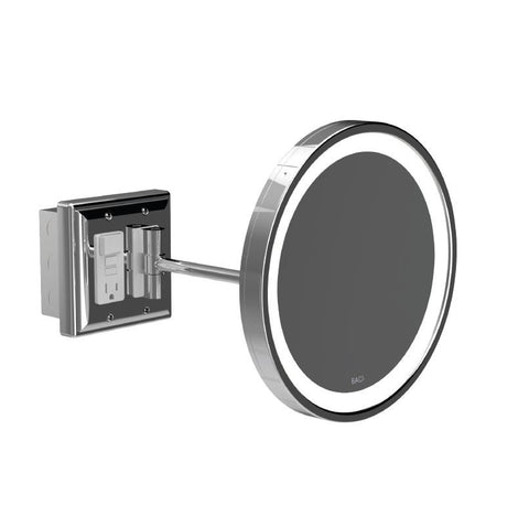 Baci Senior Single Arm Wall Mirrors With Outlet
