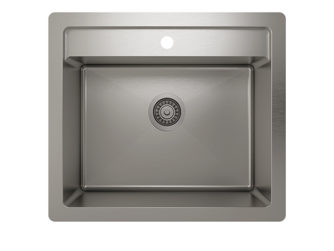 "ProInox H75 25"" × 22"" × 12"" Dualmount Stainless Steel Sink"