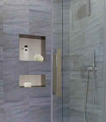 "Recessed Stainless Steel Shower Niche : 12"" Wide 12"" Tall"