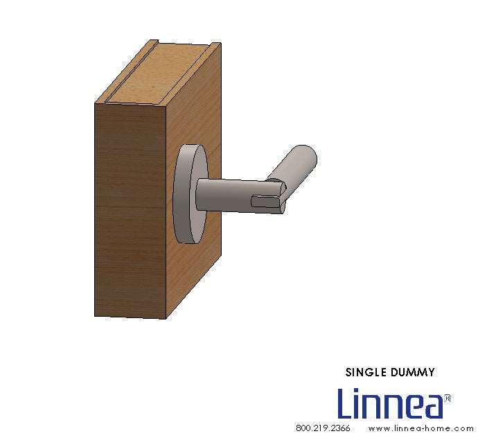 Lever 2 Single Dummy Round Rose