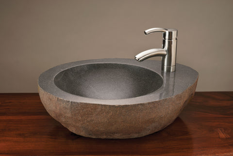 NATURAL VESSEL W/ FAUCET MOUNT