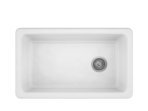 "ProTerra M125 30"" × 18 1/8"" × 9 7/8"" Farmhouse Stainless Fireclay Sink"
