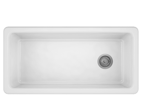 "ProTerra M125 36"" × 18 1/8"" × 9 7/8"" Farmhouse Stainless Fireclay Sink"