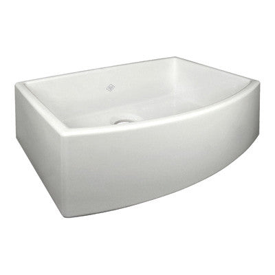 "Shaws 30"" Classic Waterside Single Bowl Bowed Apron Front Fireclay Sink"